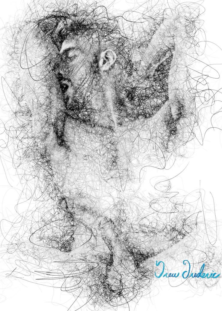 Leo Line Art